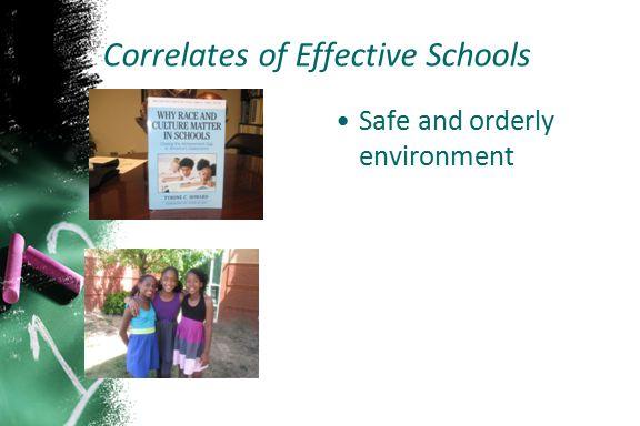 Correlates of Effective Schools