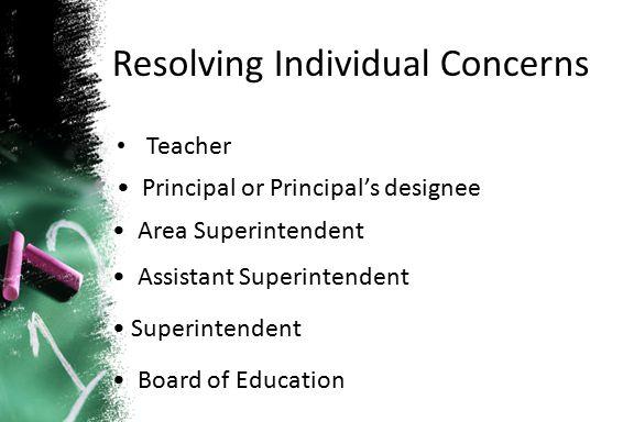 Resolving Individual Concerns