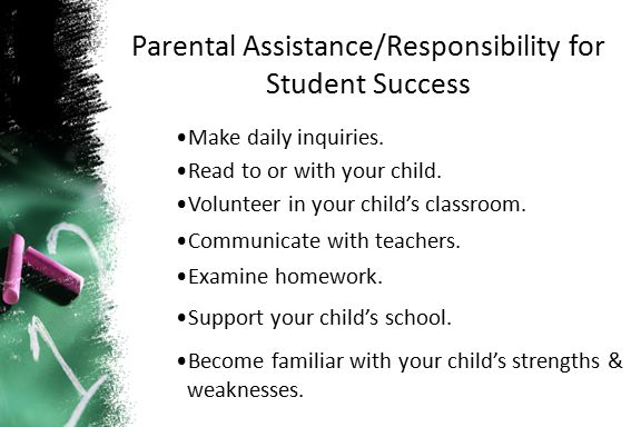 Parental Assistance/Responsibility for Student Success