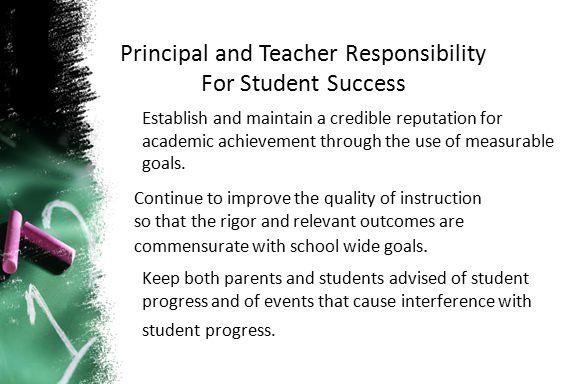 Principal and Teacher Responsibility