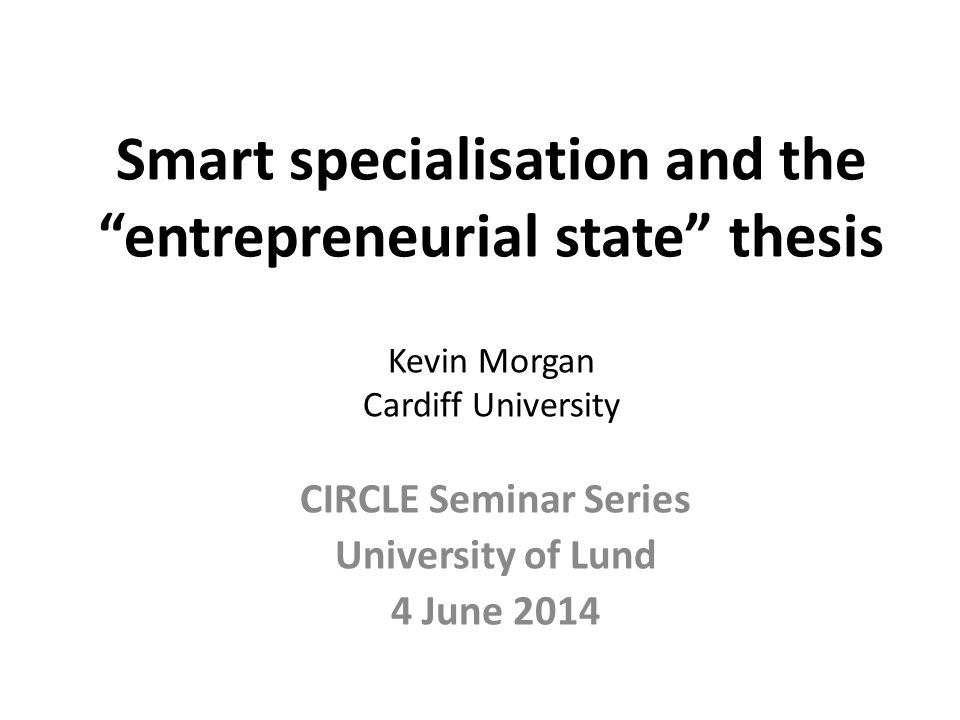 CIRCLE Seminar Series University of Lund 4 June 2014
