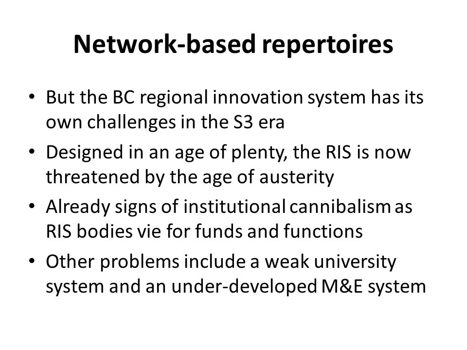 Network-based repertoires