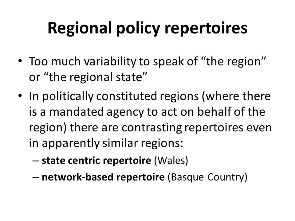 Regional policy repertoires