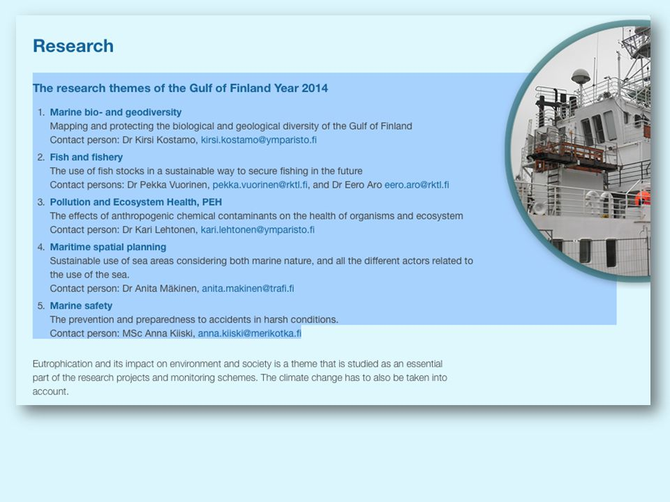 When I reading the list of research themes during the GOF Year, one can see that most of the gaps will be dealt with.