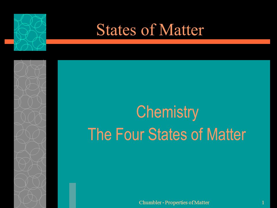 Chemistry The Four States of Matter