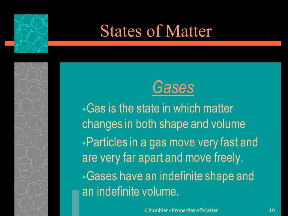 Chumbler - Properties of Matter