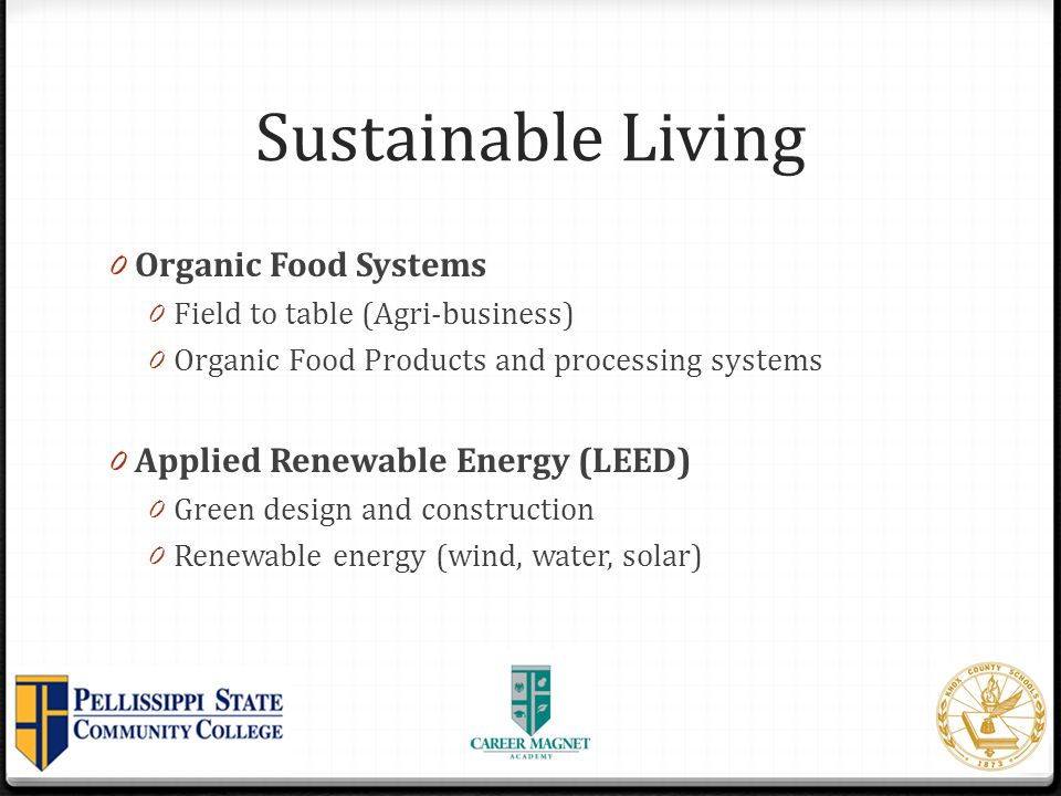Sustainable Living Organic Food Systems