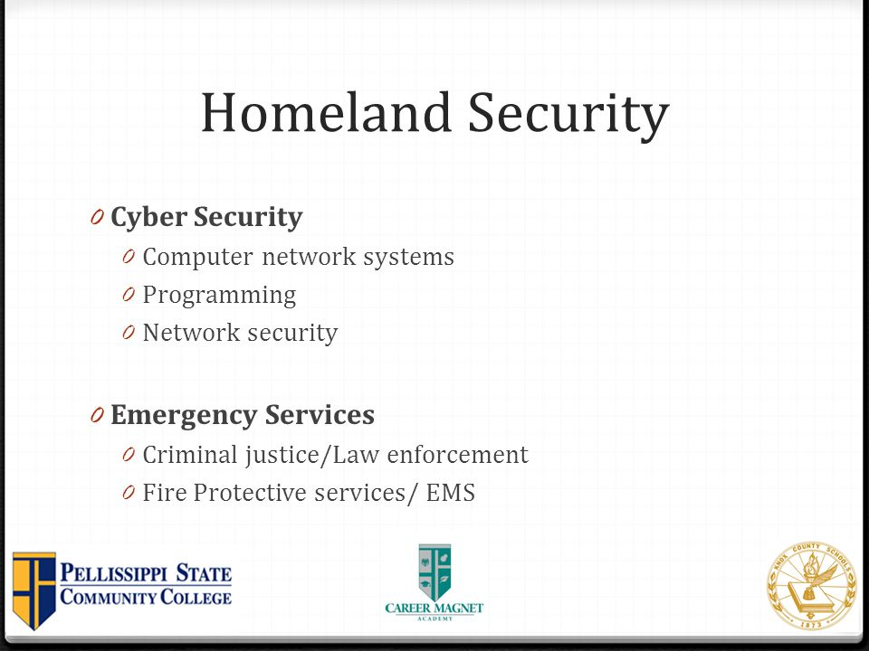 Homeland Security Cyber Security Emergency Services