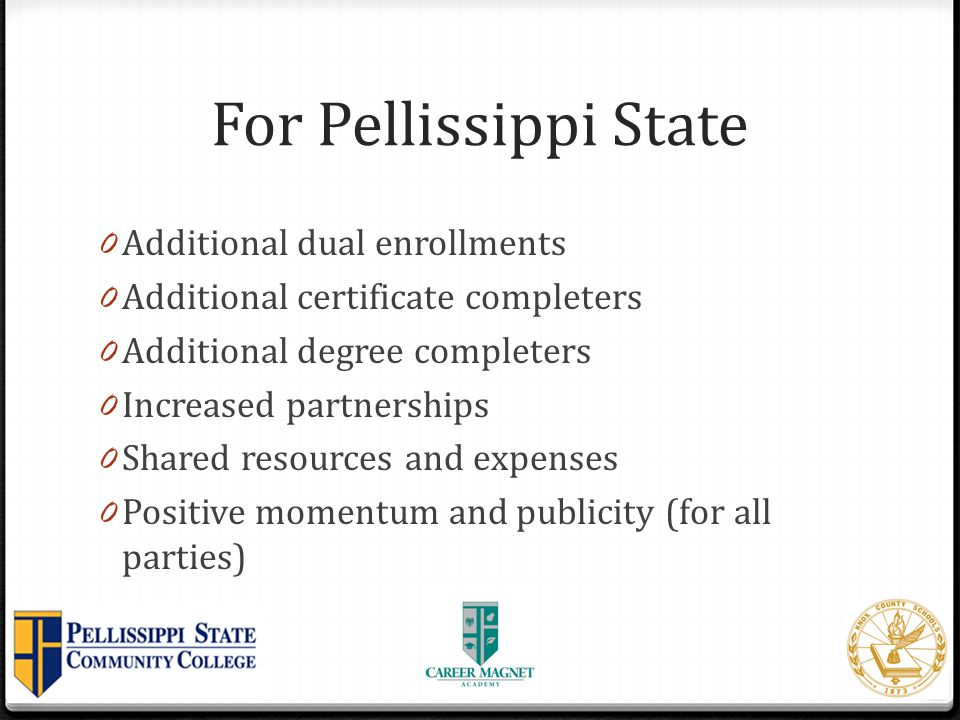 For Pellissippi State Additional dual enrollments