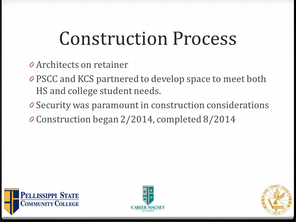 Construction Process Architects on retainer