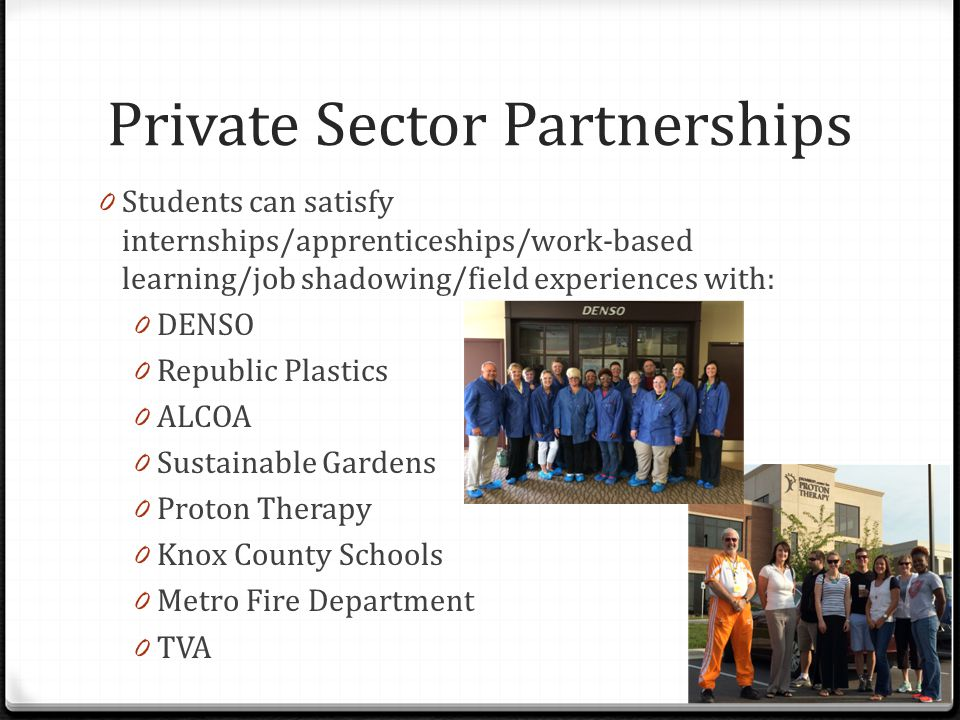 Private Sector Partnerships