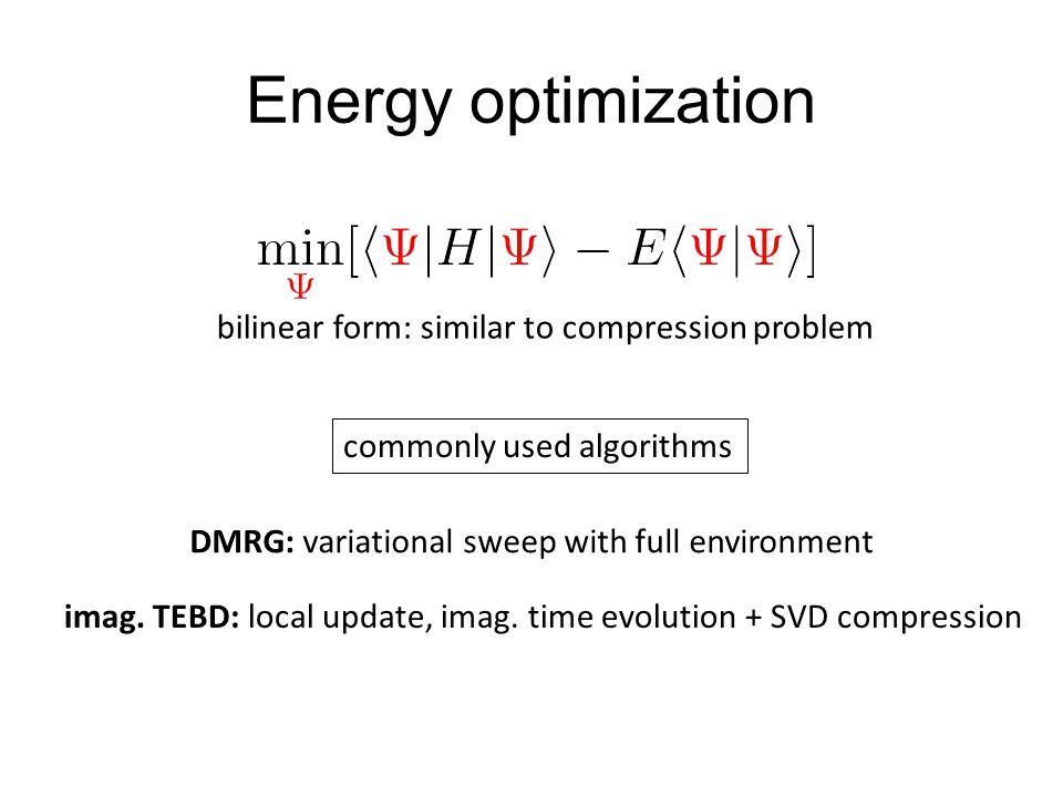 Energy optimization bilinear form: similar to compression problem