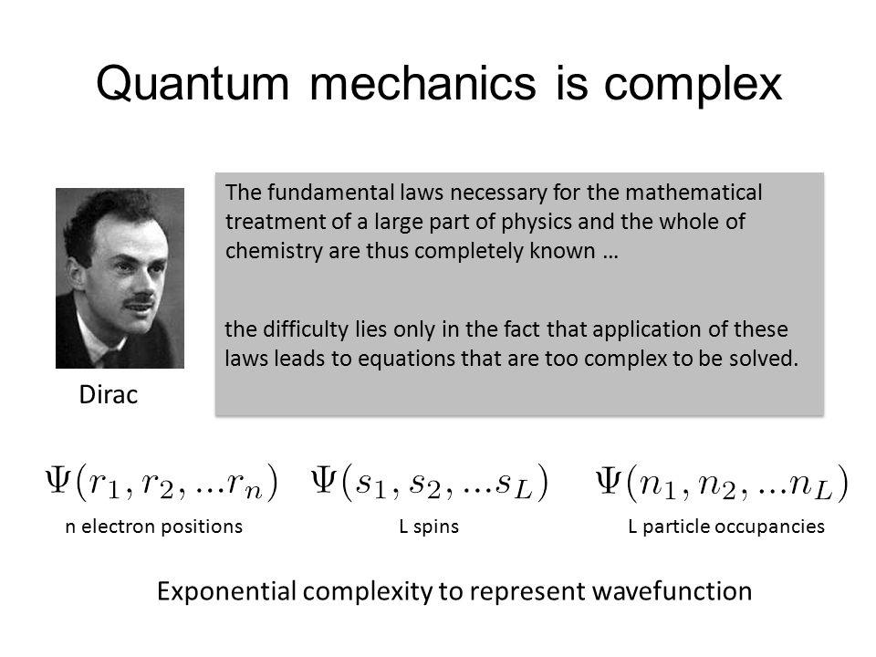 Quantum mechanics is complex