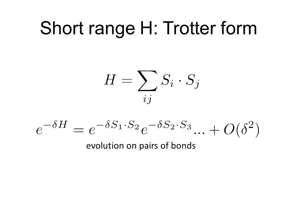 Short range H: Trotter form