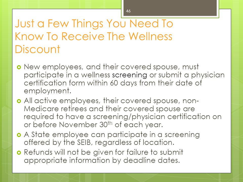Just a Few Things You Need To Know To Receive The Wellness Discount