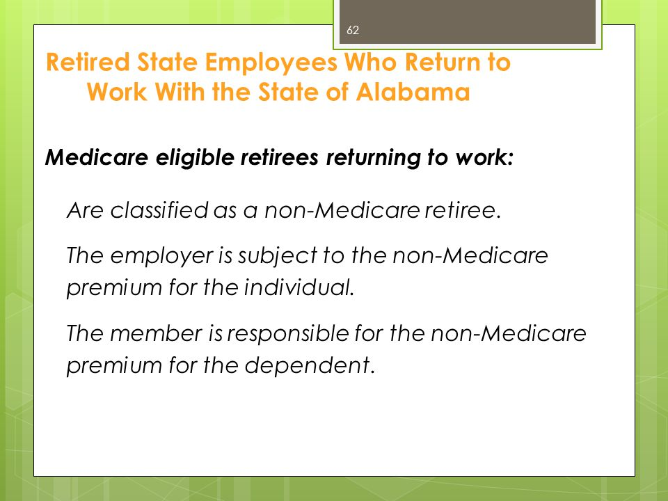Retired State Employees Who Return to Work With the State of Alabama