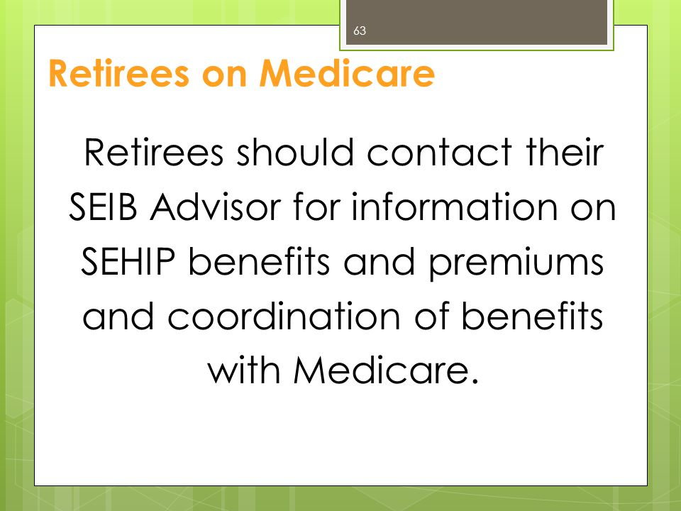 Retirees on Medicare