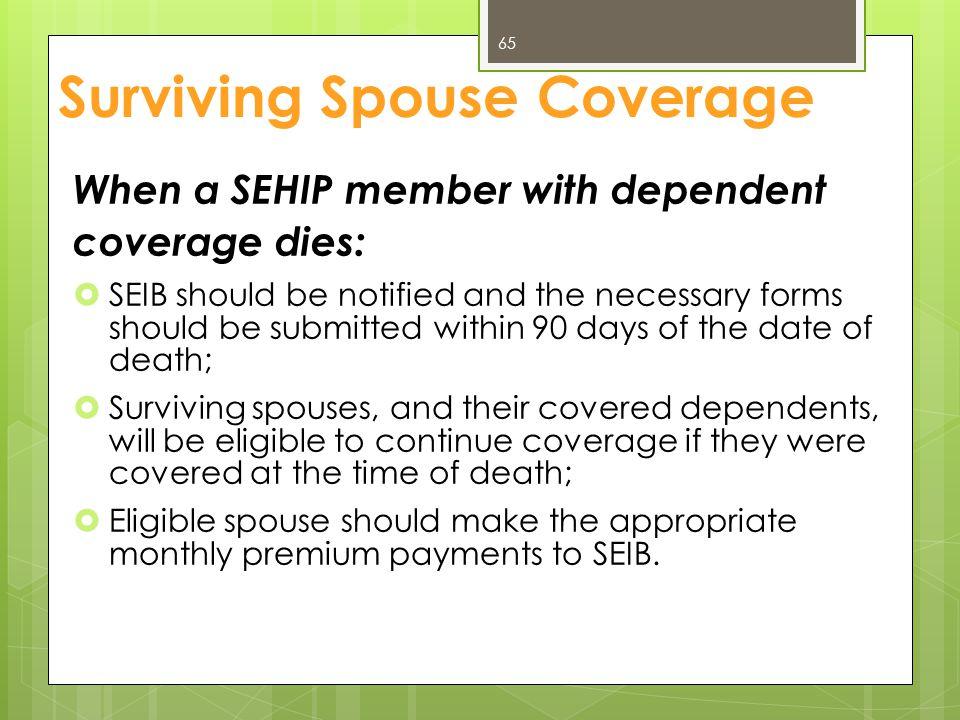 Surviving Spouse Coverage