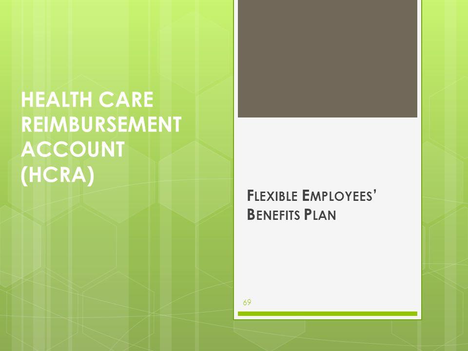 Health care reimbursement account (hcra)