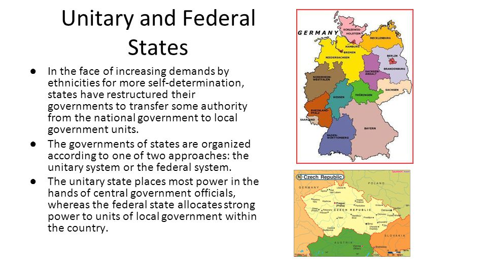 Unitary and Federal States