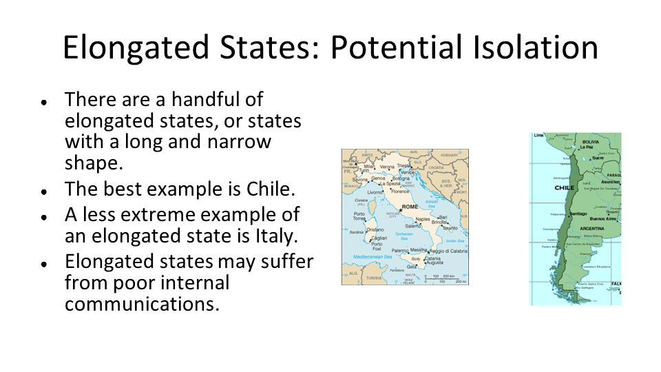 Elongated States: Potential Isolation