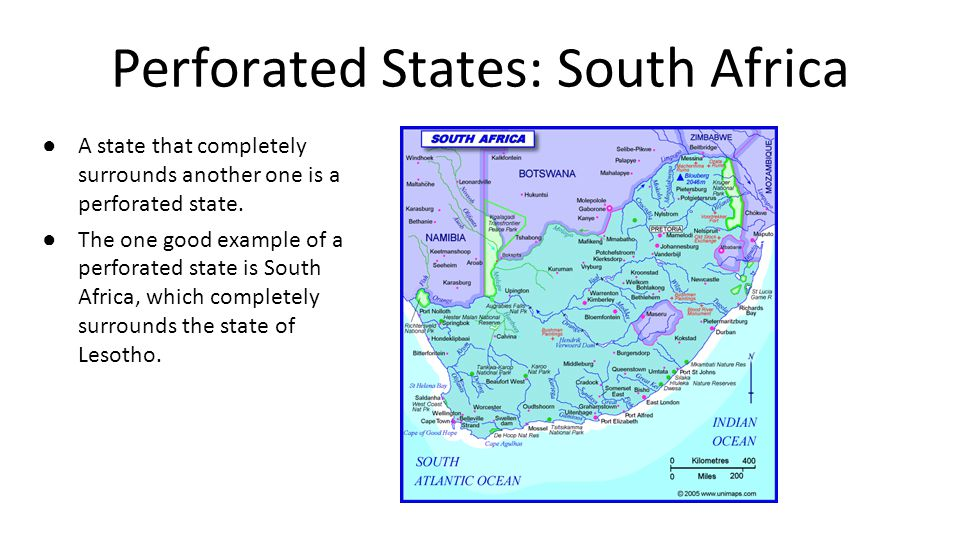 Perforated States: South Africa