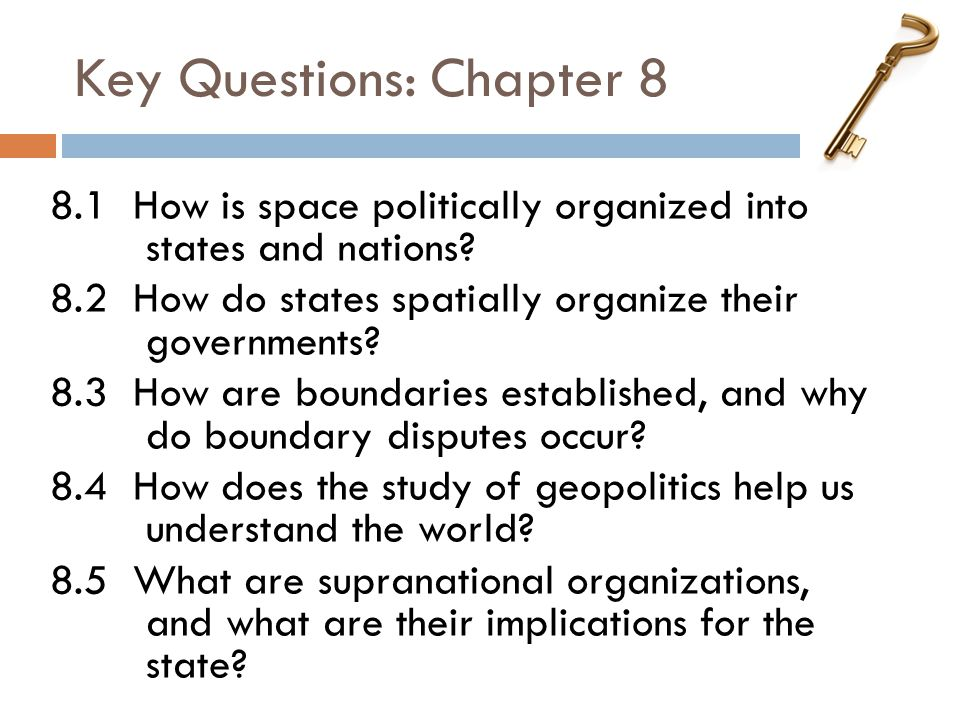 Key Questions: Chapter 8