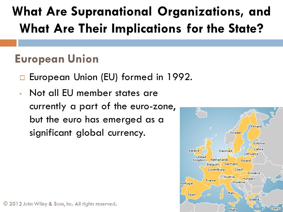 What Are Supranational Organizations, and What Are Their Implications for the State