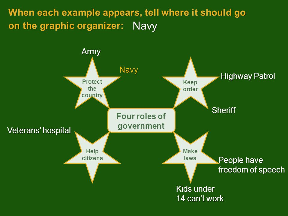 Four roles of government