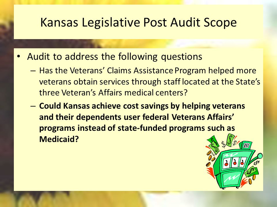 Kansas Legislative Post Audit Scope