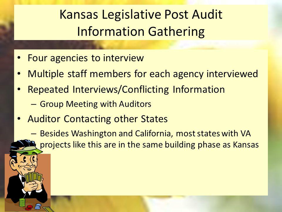 Kansas Legislative Post Audit Information Gathering