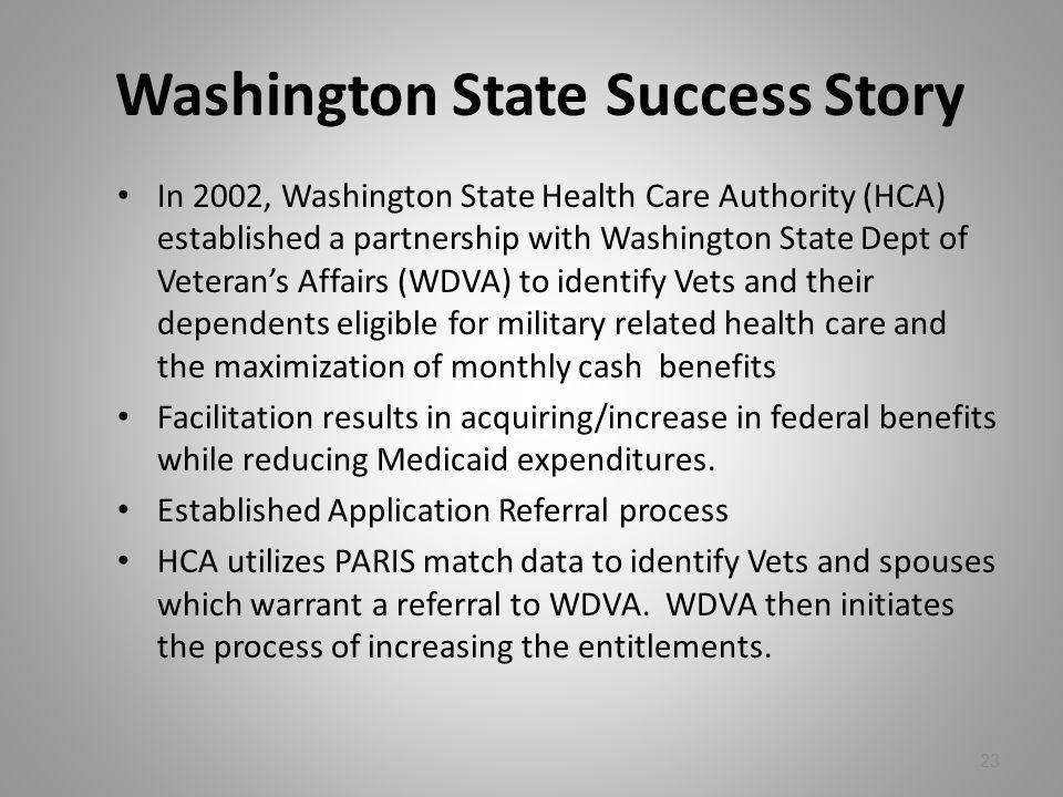 Washington State Success Story