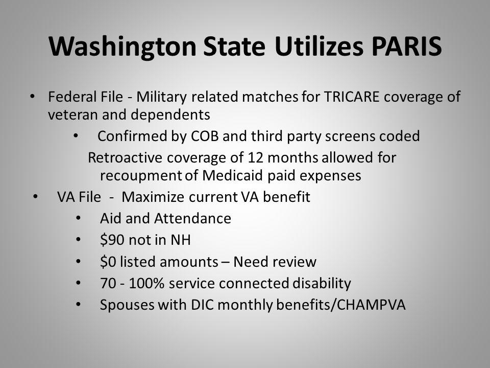 Washington State Utilizes PARIS