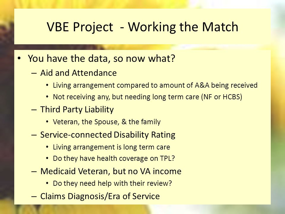 VBE Project - Working the Match