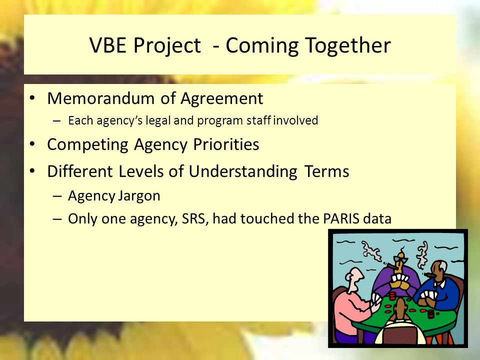 VBE Project - Coming Together