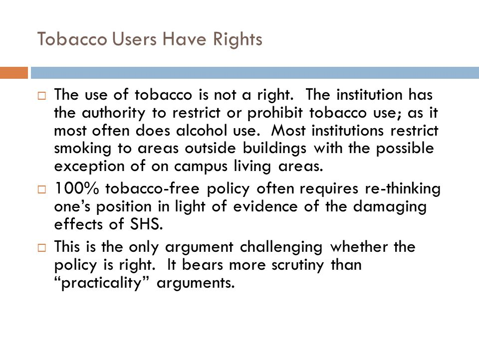 Tobacco Users Have Rights