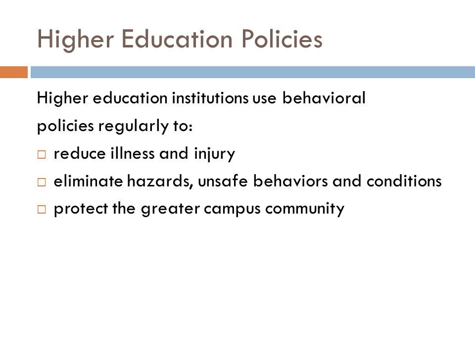 Higher Education Policies