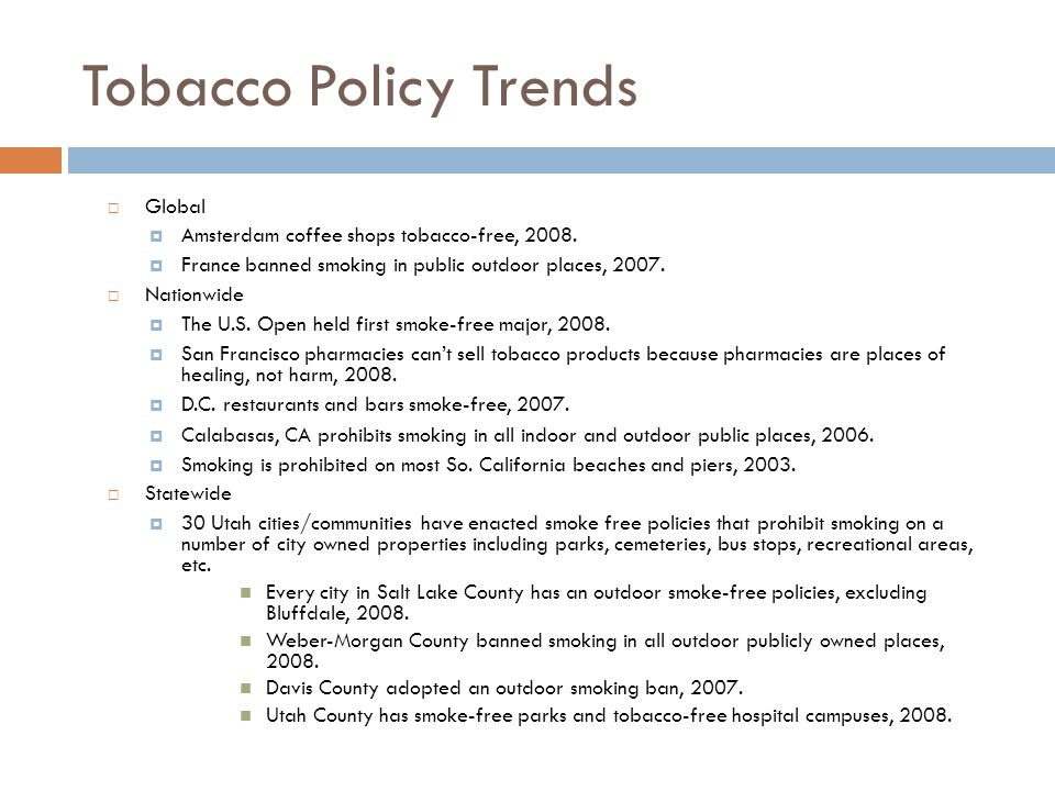 Tobacco Policy Trends Global