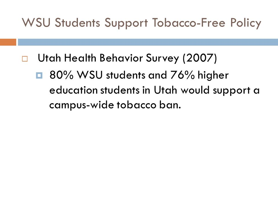 WSU Students Support Tobacco-Free Policy