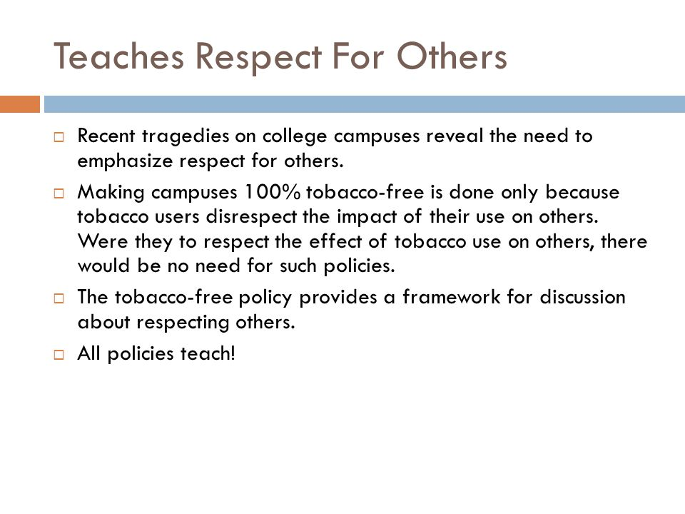 Teaches Respect For Others