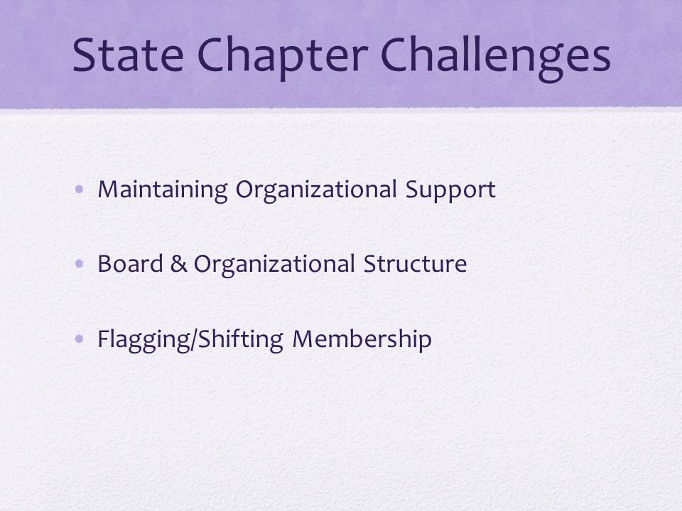 State Chapter Challenges