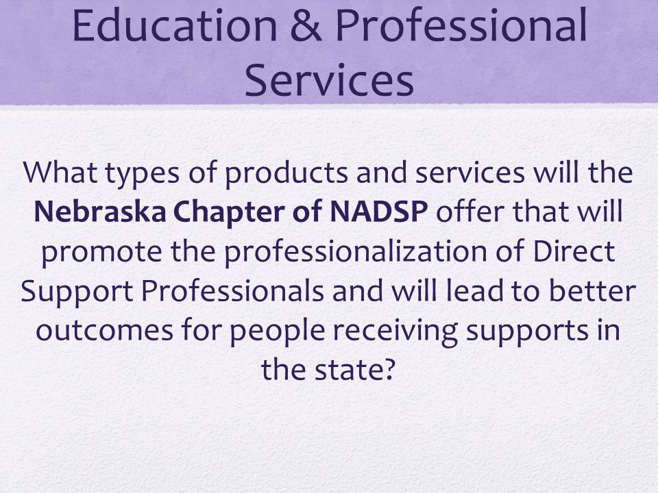 Education & Professional Services