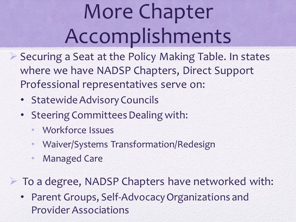 More Chapter Accomplishments