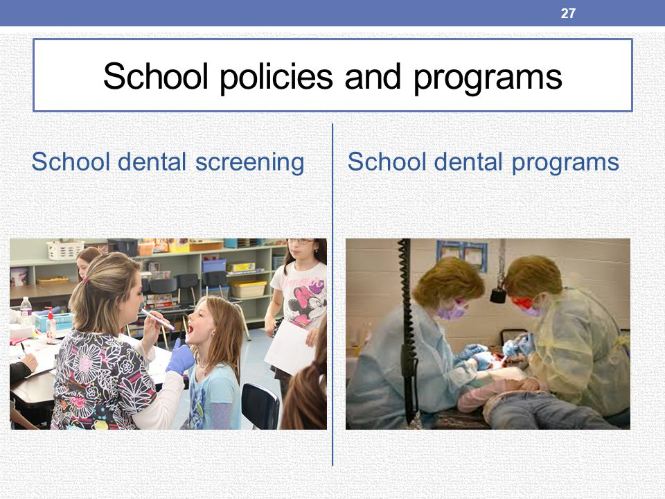 School policies and programs