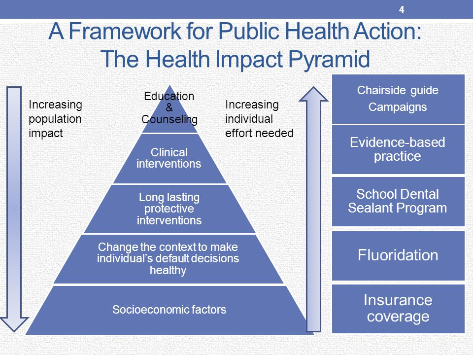 A Framework for Public Health Action: The Health Impact Pyramid