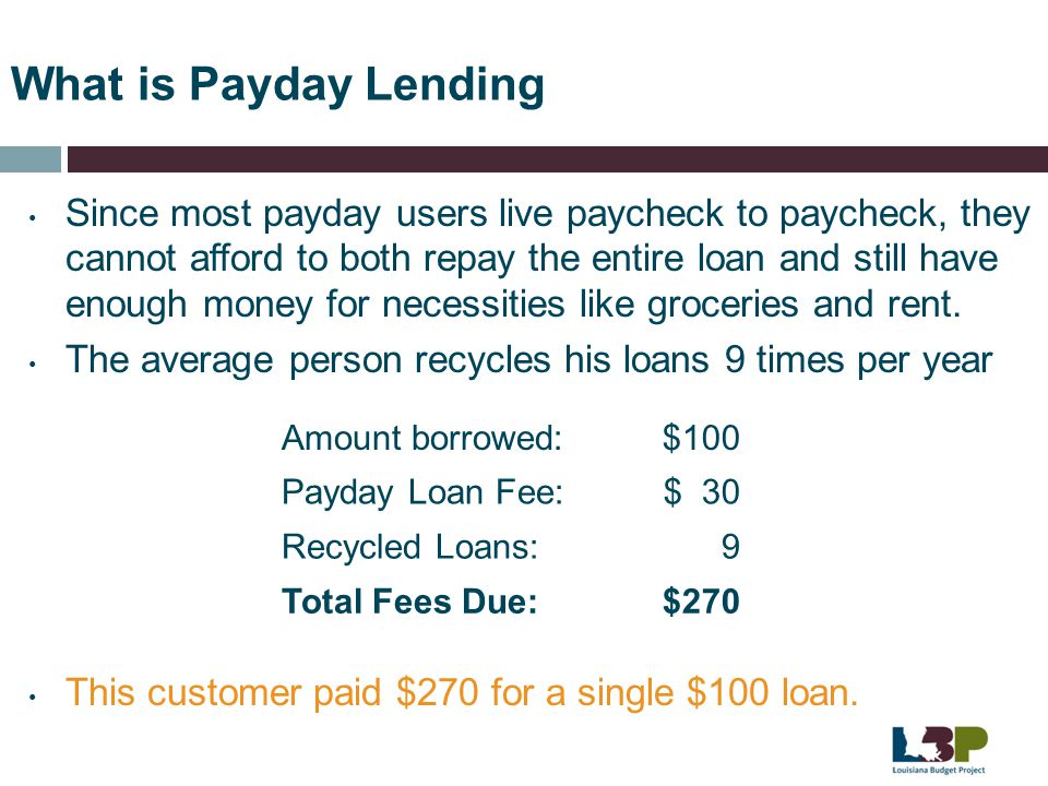 What is Payday Lending