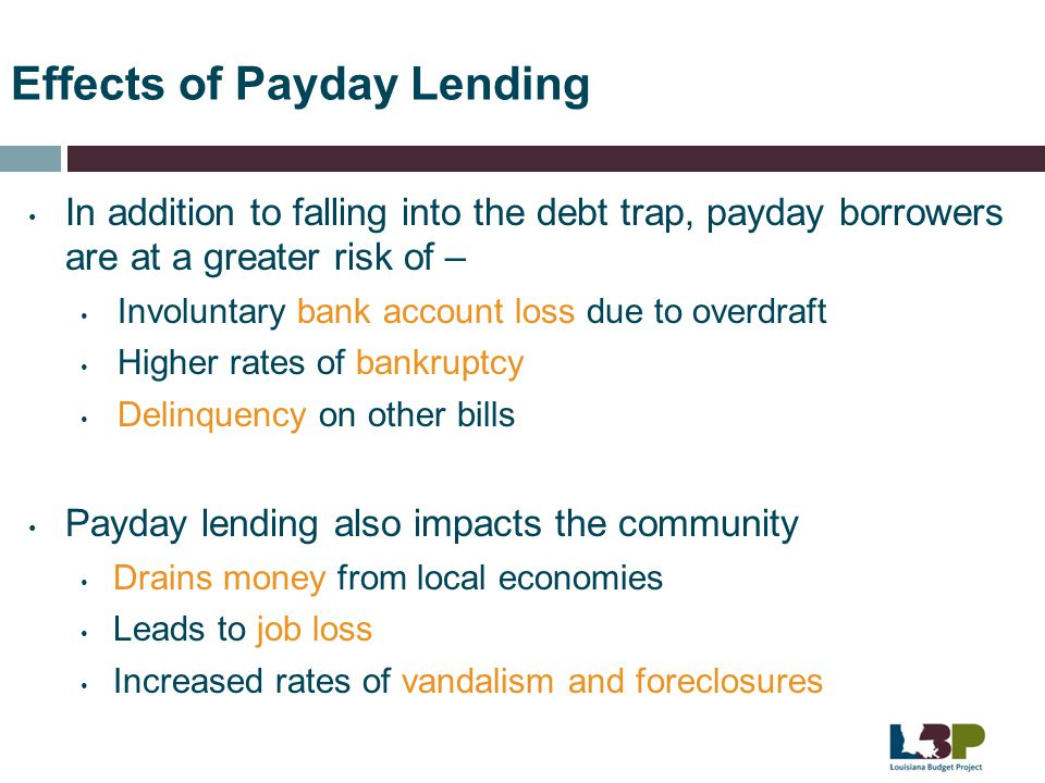 Effects of Payday Lending