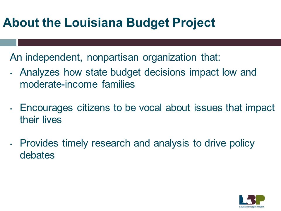About the Louisiana Budget Project