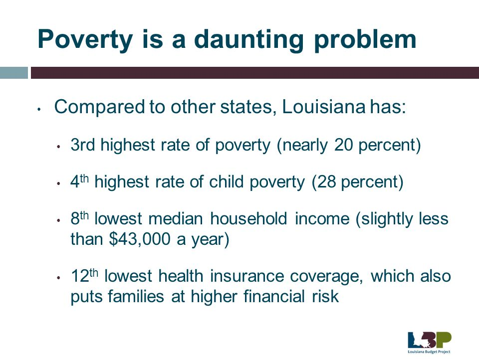Poverty is a daunting problem