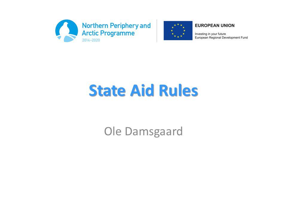 State Aid Rules Ole Damsgaard
